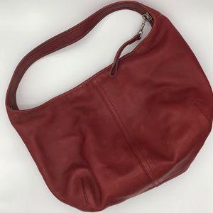 Coach Ergo J2K-9221 Vintage Red Leather Hobo Bag